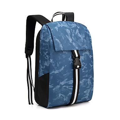 abordables Sacs-Ajustable Matériel spécial Fermeture Sac d'Ecole Bloc de Couleur De plein air Bleu