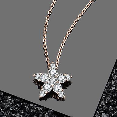 billige Halskjeder-ekte 100% 925 sterling sølv flash star blendende cz anheng halskjede egnet for damer sterling sølv smykker anheng størrelse på ca 12,3 mm * 11,4 mm kjede lengde på ca 45 cm (inkludert 5 c