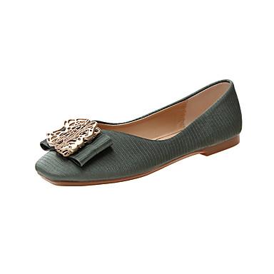 Kadın's Mokasen & Bağcıksız Ayakkabılar Düz Taban PU İlkbahar & Kış / Yaz Yeşil / Sarı / Bej