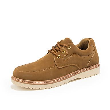 Homens Sapatos Confortáveis Sintéticos Primavera Verão / Outono & inverno Oxfords Preto / Azul / Marron
