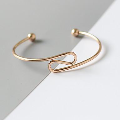 abordables Bracelet-Bracelet Femme Géométrique Précieux Mode Bracelet Bijoux Dorée pour Quotidien