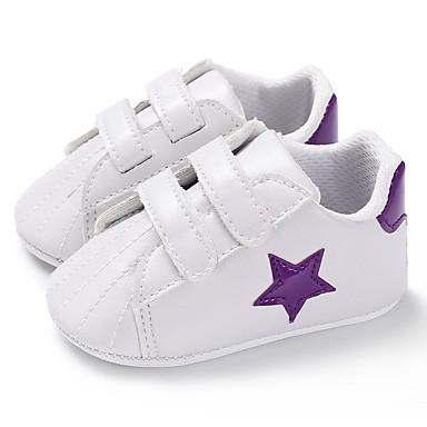 baratos Sapatos de Criança-Para Meninos / Para Meninas Couro Ecológico Tênis Crianças (0-9m) / Criança (9m-4ys) Primeiros Passos Preto / Verde / Roxo Primavera / Outono