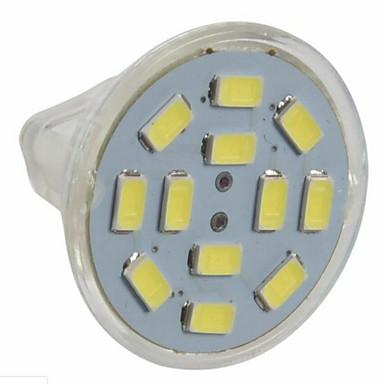 abordables Ampoules électriques-3 W Spot LED 250 lm GU4(MR11) MR11 12 Perles LED SMD 5730 Blanc Chaud Blanc Froid 12 V / 10 pièces