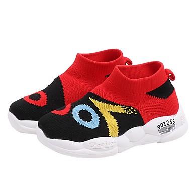 baratos Sapatos de Criança-Para Meninos Flyknit Tênis Little Kids (4-7 anos) Conforto Amarelo / Vermelho / Rosa claro Primavera