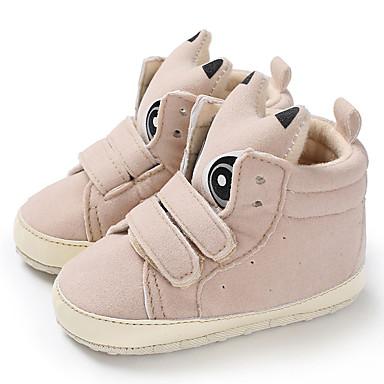 baratos Sapatos de Criança-Para Meninos / Para Meninas Algodão Botas Crianças (0-9m) / Criança (9m-4ys) Primeiros Passos Preto / Rosa claro / Cinzento Outono / Inverno