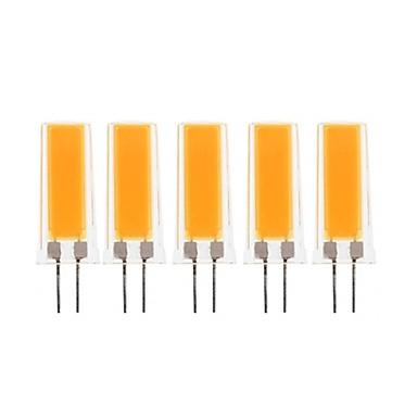 abordables Ampoules électriques-5pcs 3 W LED à Double Broches 300-390 lm G4 1 Perles LED COB Décorative Adorable Blanc Chaud Blanc Froid 220-240 V 110-130 V