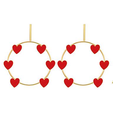 billige Moteøreringer-Dame Øredobb Hjerte Blomst Kjærlighed øredobber Smykker Gull / Sølv Til Gave Daglig Ferie Arbeid Festival 2pcs