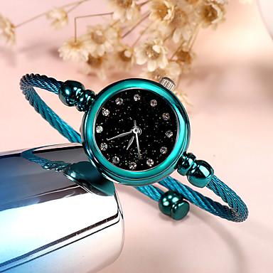 baratos Relógios Homem-Mulheres Relógios de Quartzo Fashion Minimalista Azul Prata Roxa Tecido Quartzo Roxo Prata Azul Relógio Casual 1 Pça. Analógico Um ano Ciclo de Vida da Bateria / Aço Inoxidável
