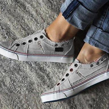 povoljno Ženske cipele-Žene Sneakers Ravna potpetica Okrugli Toe Platno Ljeto Obala / Crvena / Plava