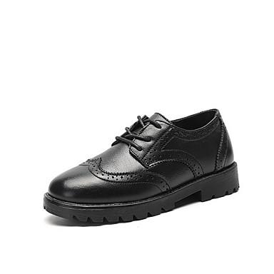baratos Sapatos de Criança-Para Meninos Couro Ecológico Oxfords Little Kids (4-7 anos) Conforto Preto Verão