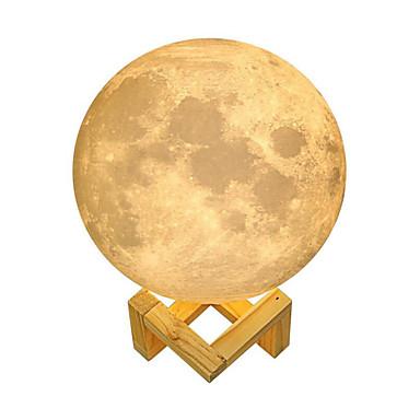 1pc הדמיה הדמיה 3D הדפסת לילה ירח לילה המיטה מנורת שולחן תפאורה מתנה סוללה מופעל<5 נ '