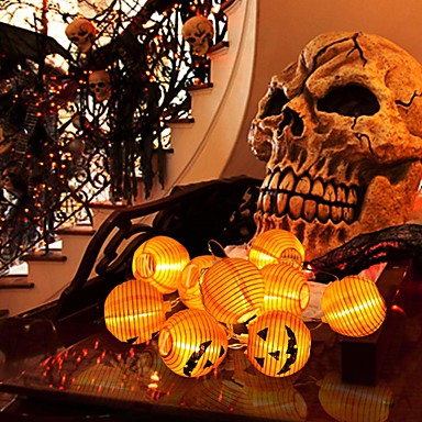 cheap Happy Halloween-Halloween Pumpkin String Light for Halloween Party Decoration DIY with Foldable 10 Lanterns 2m 80inch