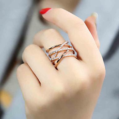 voordelige Dames Sieraden-Dames Ring 1pc Zilver Goud Rose Zilver Cirkelvormig Standaard Koreaans Modieus Festival Sieraden