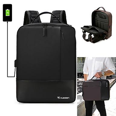 お買い得  バッグ-調整可能 オックスフォード PU ジッパー バックパック 純色 日常 ブラック / Brown / パープル