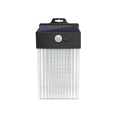 abordables Éclairage Extérieur-1pc 2 W Eclairages extérieurs muraux / Lampe murale solaire Imperméable / Solaire / Design nouveau Blanc 3.7 V Eclairage Extérieur / Cour / Jardin 50 Perles LED