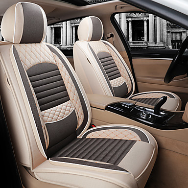 voordelige Auto-interieur accessoires-gemengd katoen linnen mode auto vier seizoenen kussen linnen auto zitkussen automotive benodigdheden