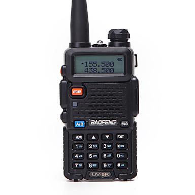 billige Walkie-talkies-1stk baofeng uv-5r walkie talkie uhf vhf bærbar cb skinke radiostasjon amatør politiscanner radio intercome hf sender / mottaker uv5r øretelefon