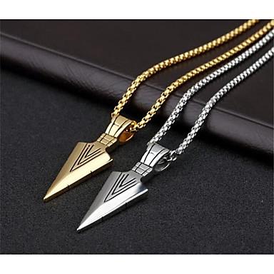 billige Mote Halskjede-Herre Anheng Halskjede geometriske Vertikal Mote Titanium Stål Gull Sølv 70 cm Halskjeder Smykker 1pc Til Daglig Arbeid