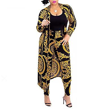 voordelige Nieuwe collectie-Dames Boho / Street chic Set Pantalon Ruitjes