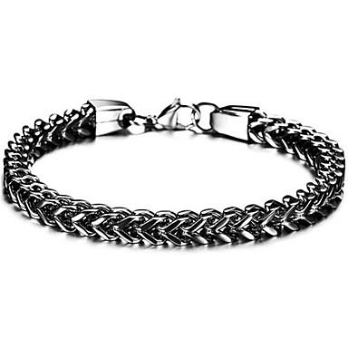 voordelige Dames Sieraden-Heren Wide Bangle Retro Kruis Punk Titanium Staal Armband sieraden Zwart / Goud / Zilver Voor Dagelijks
