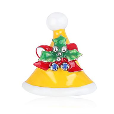 voordelige Dames Sieraden-Dames Broches Broche Sieraden Geel Rood Voor Kerstmis Dagelijks