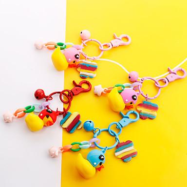 voordelige Dames Sieraden-Sleutelhanger Eend Koreaans Zoet Modieus Modieuze ringen Sieraden Paars / Rood / Blauw Voor Dagelijks Afspraakje