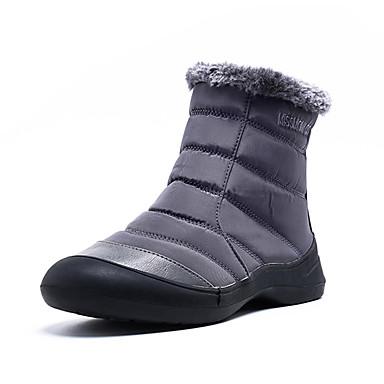 voordelige Dameslaarzen-Dames Laarzen Platte hak Ronde Teen Satijn Herfst winter Zwart / Grijs