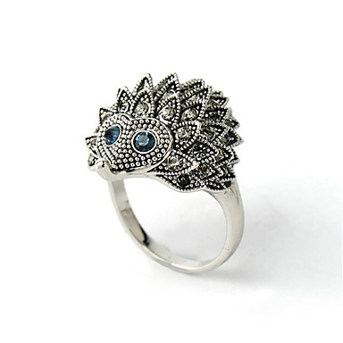 voordelige Dames Sieraden-Dames Ring Kubieke Zirkonia 1pc Zilver Verguld Gesimuleerde diamant Rond Stijlvol Lahja Dagelijks Sieraden Klassiek Dier Cool