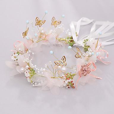 cheap Kids' Accessories-Kids Baby Girls' Princess Sen Department Girls Crown Children  Headband Stage Flower Girl Head Flower Wreath Wedding Jewelry Bridal Headdress