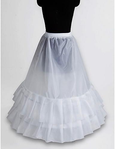 Slipler A-Line Alt Giyimi Balo Elbisesi Alt Giyimi Yer-uzunluğunda 1 Naylon