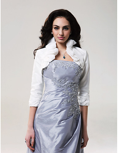 Tafta Düğün Düğün sarar İle Fırfırlı Kabanlar / Ceketler