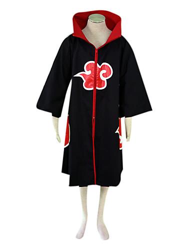 billige Cosplay og kostumer-Inspireret af Naruto Sarutobi Sasuke Anime Cosplay Kostumer Japansk Cosplay Kostumer Farveblok Langærmet Kappe Til Herre