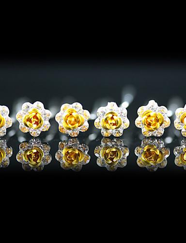 billige Blomsterpike-Edelsten og krystall / Krystall / Tøy Tiaras / Hodeplagg / Hårnål med Krystall 1 Bryllup / Spesiell Leilighet / Fest / aften Hodeplagg / Legering