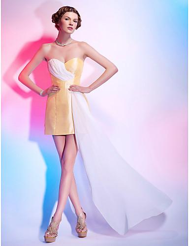 Sheath/Column Sweetheart Short/Mini Taffeta And Chiffon Cocktail Dress inspired by Selena Gomez