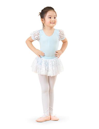 preiswerte Ballettbekleidung-Tanzkleidung für Kinder / Ballett Kleider Training Baumwolle Spitze Kurze Ärmel Hoch