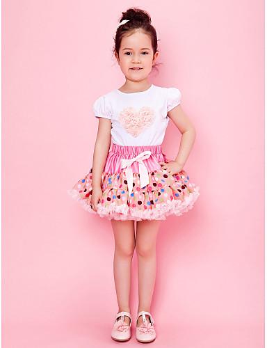 Pink Polka Dot Girl Skirt