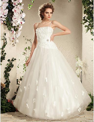 Lanting Bride® Robe de Soirée Petites Tailles / Grandes Tailles Robe de Mariage - Brillant & Séduisant Transparent Longueur SolBretelles