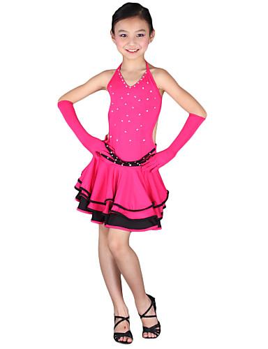 dancewear Polyester Leistung latin dance dress for kids