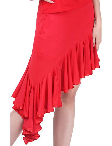 Latintanz-Röcke(Schwarz / Rot,Polyester,Latintanz) - fürDamen Normal