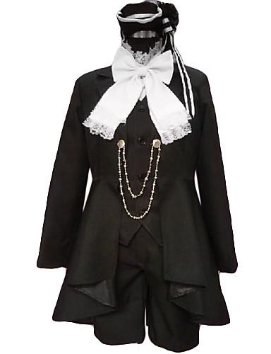 levne Cosplay a kostýmy-Inspirovaný Black Butler Ciel Phantomhive Anime Cosplay kostýmy japonština Cosplay šaty Patchwork Dlouhý rukáv Nákrčník / Kabát / Vesta Pro Pánské