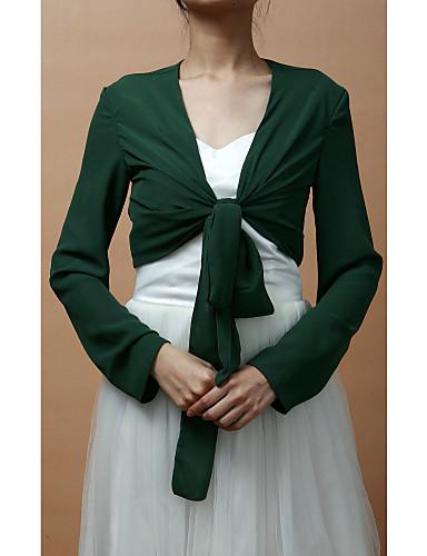 Wraps Wedding Cappotti / Giacche Maniche lunghe Chiffon Come da immagine Da sera Con lacci