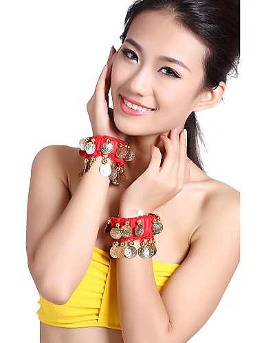 Performance Dancewear Tulle with Coins Belly Dance Bracelet For Ladies More Colors