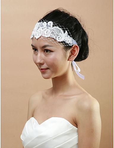 Women's Imitation Pearl Lace Rhinestone Headpiece-Wedding Special Occasion Headbands