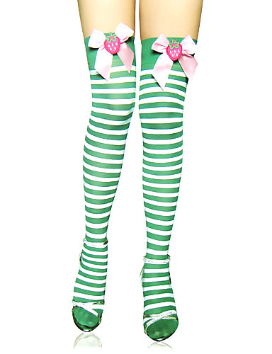 002ef0779c7 Women s Sweet Lolita Lolita Socks   Long Stockings Thigh High Socks Lolita Striped  Stripes Lolita Accessories   High Elasticity