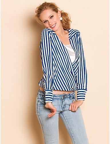 TS Lös Stripes långärmad skjorta