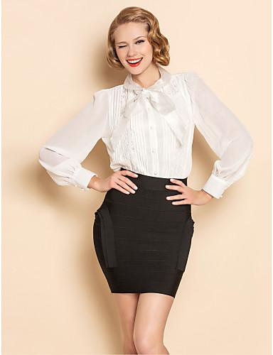TS Organza Bow Collar Bluse Shirt