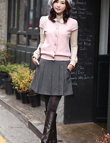 Kvinners Tweed Pleated Skirt