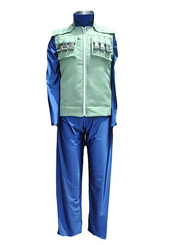 voordelige Cosplay & Kostuums-geinspireerd door Naruto Hatake Kakashi Anime Cosplaykostuums Cosplay Kostuums Patchwork Lange mouw Ves / Broeken / T-shirt Voor Heren