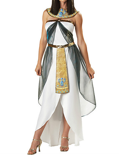 billige Etniske og kulturelle Kostymer-Cleopatra Kjoler Drakter Dame Halloween Karneval Nytt År Festival / høytid polyester Dame Karneval Kostumer