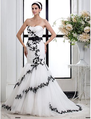 0112818e0 Trompeta   Sirena Escote Corazón Corte Tul   Encaje floral Vestidos de novia  hechos a medida